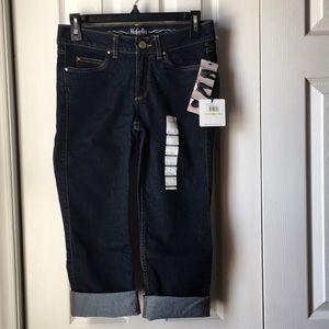Rafaella Weekend Slimming Cuffed Capri Jeans